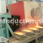 Induction melting plant complete with hydraulic tilting and ingots carosel