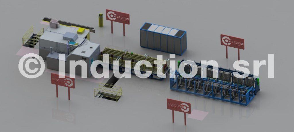 forno ad induzione per stampaggio acciaio ottone rame e alluminio