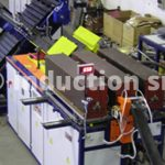 Induction heating plant for metals hot forging