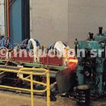 3000 kW plant for continuous flat strip heating and subsequent hot rolling