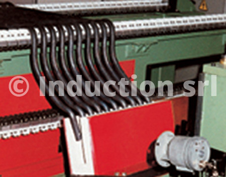 Induction heating plant for stabilizer bars partial heating