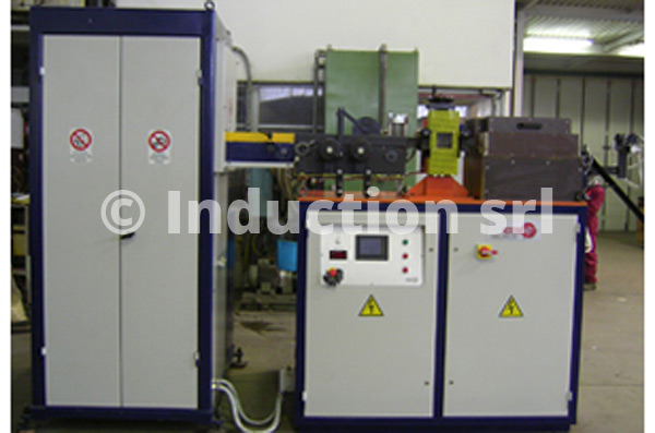 100 kW induction heating plant for metals hot forging