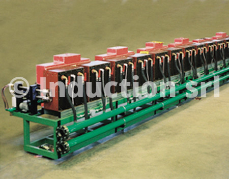 Induction heating plants for hot rolling