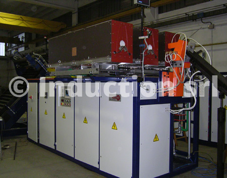 Induction heating plants with fast automatic inductors exchange