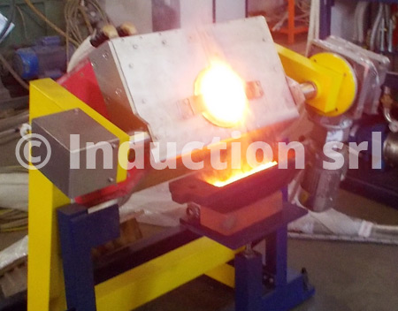 Induction melting at medium frequency process