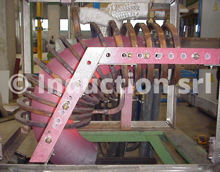 Induction heating turn-key plants for elbows production