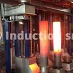 Robotized induction heating plant for total and partial heating