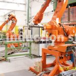 Robotized turn-key plants for metals hot forging