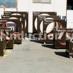 Double coils set for induction heating plant for tubes industry