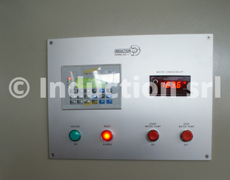 Operator panel for induction heating equipment