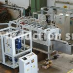 Induction heating plants for blades hardening