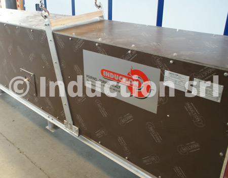 Heating coils for induction heating plants