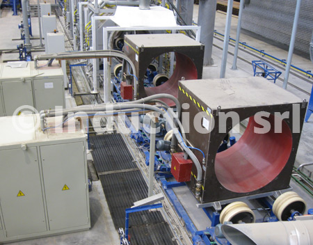 Induction heating double converter plant for tubes industry