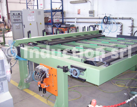Loading table for induction heating plant