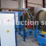 Tubes coating process with induction heating plant