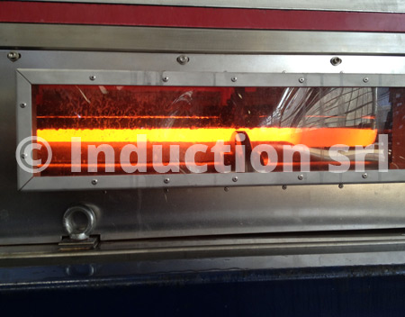 Induction heating for tubes and bars heat treatments