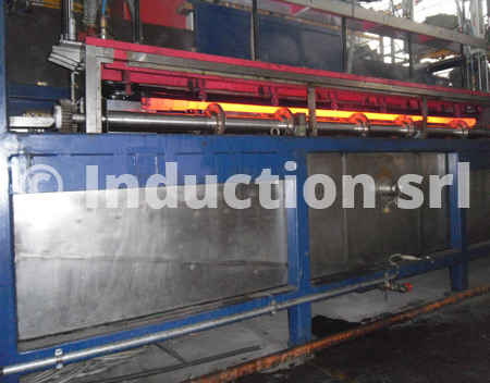 Induction heating plants for metals hot treatments
