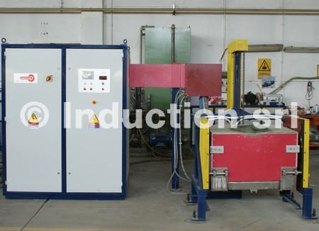 Induction melting plant