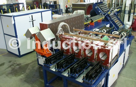 Induction heating plant for partial and total heating