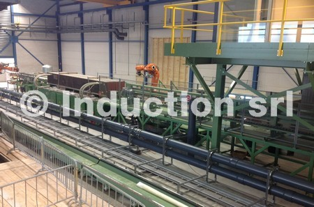 2000 kW plate induction heating line for leaf spring production