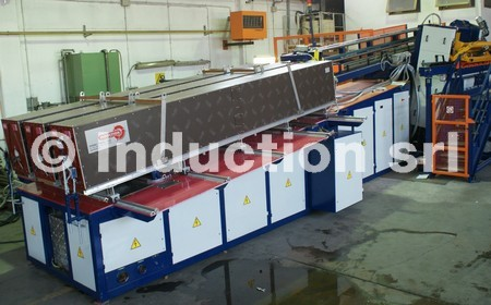 Complete 1600 kW induction heating plant for steel hot forging