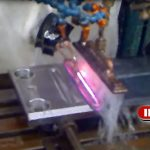 Blade hardening by induction heating