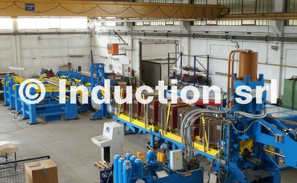 Induction hot shearing complete line