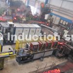 Induction heating plant for bars heating and Hatebur hot forming machine