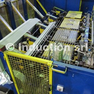 induction heating line for spring, spring production line, linea di riscaldo molle