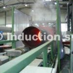 Induction heating plant for heat treatments of tubes and pipes
