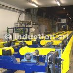 Loading table for spring production lines