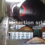 Induction heating equipment for heat treatments of tubes and pipes