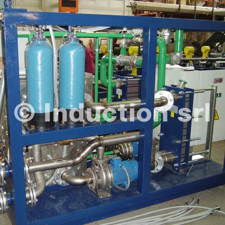 Extended heat exchanger water cooling system