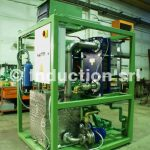 Water cooling units for induction heating plants