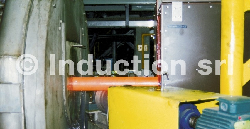 Induction heating plant for tubes heat treatment
