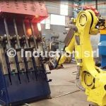 Partial heating robotized plant for steel forging