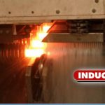 hardening and tempering line with induction heater