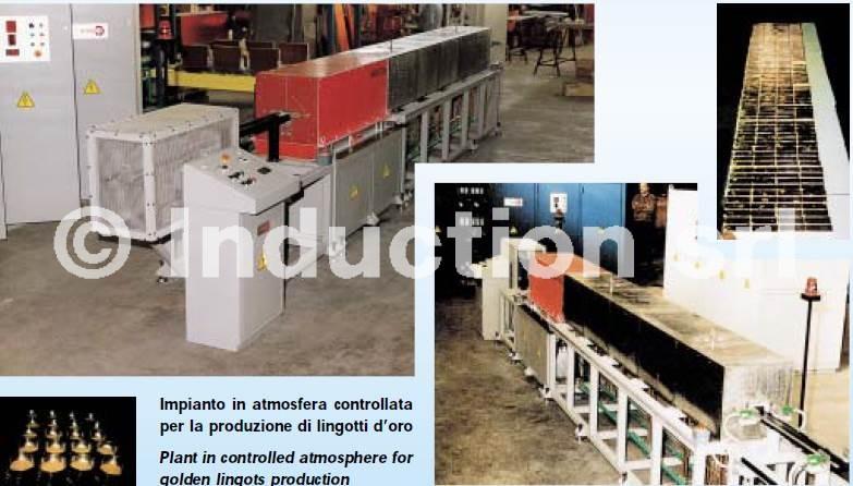 induction heater for preciuos metals; forni ad induzione per oro, argento e metalli preziosi