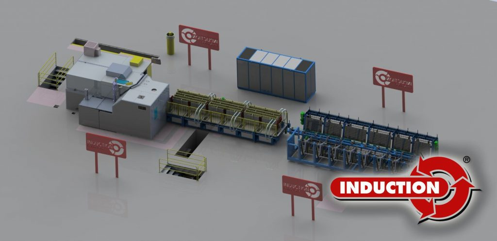 Induction system for Hatebur press