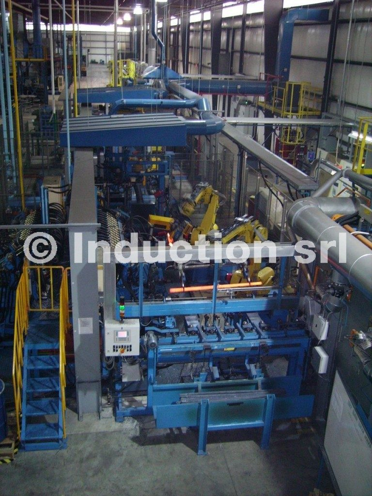 Induction heating turn-key line for bars steel forging
