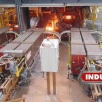 5 MW forging line with 4 induction furnaces in tandem