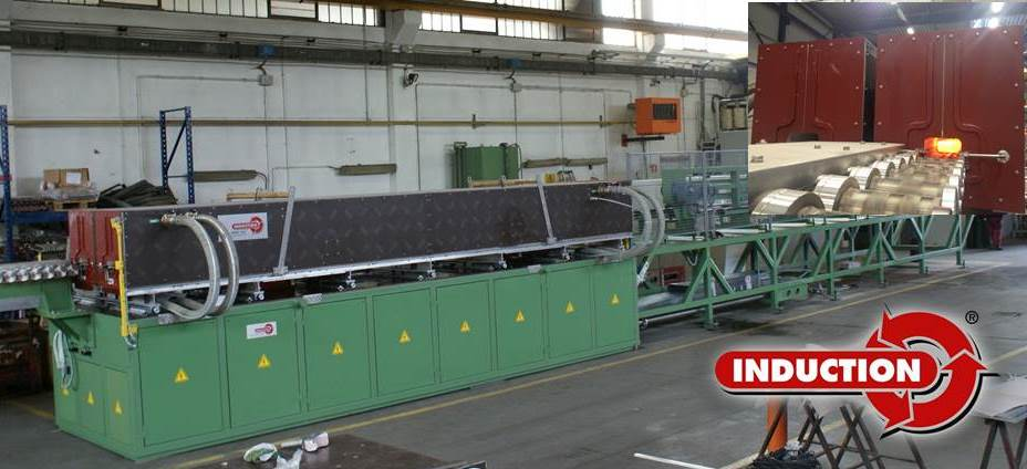 2000 kW plant induction heating line for leaf spring production
