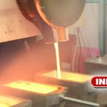 Induction melting furnace for ingots production