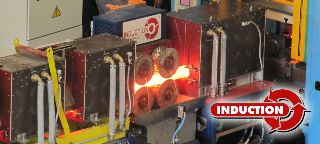 Induction heating line for Hatebur presses